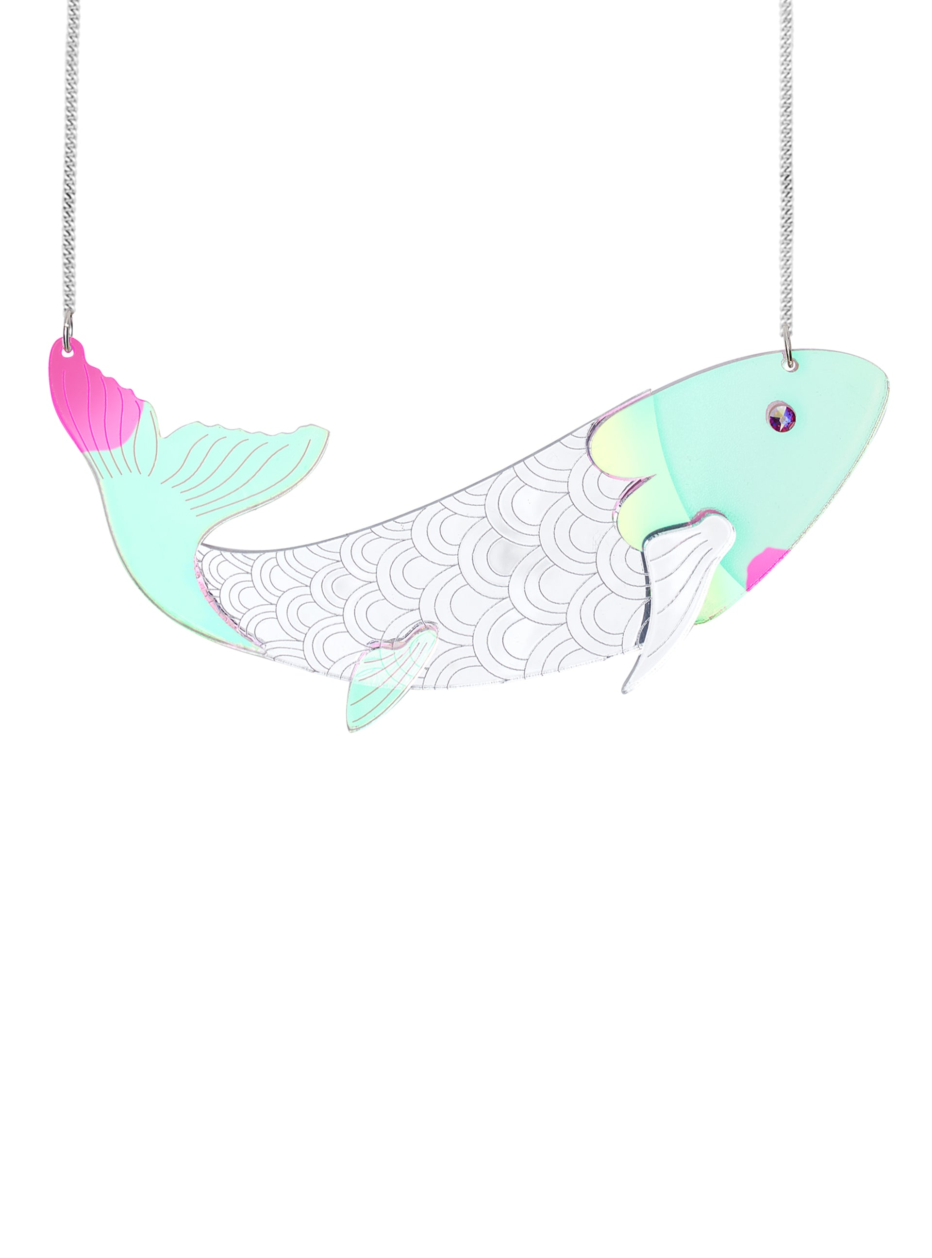 rainbow fish necklace