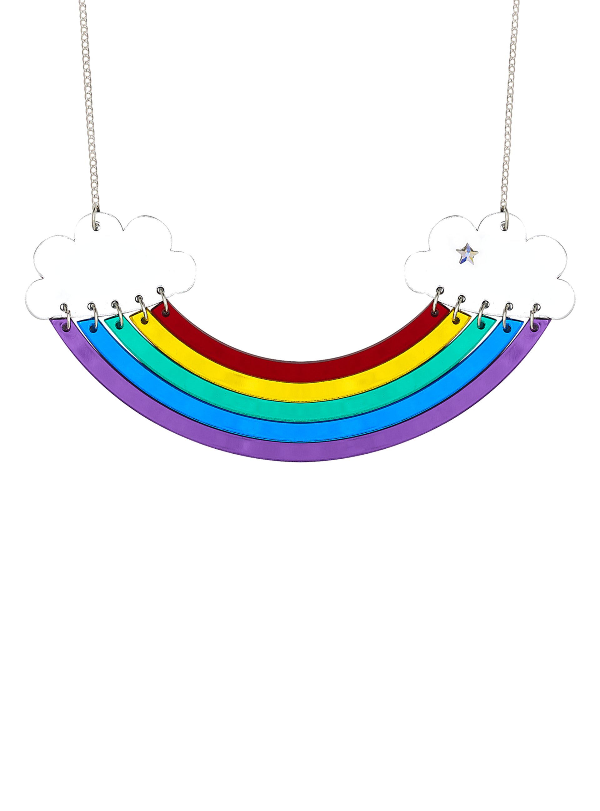 rainbow plated you necklaces necklace world detail a product petites home like gold color lennebelle my