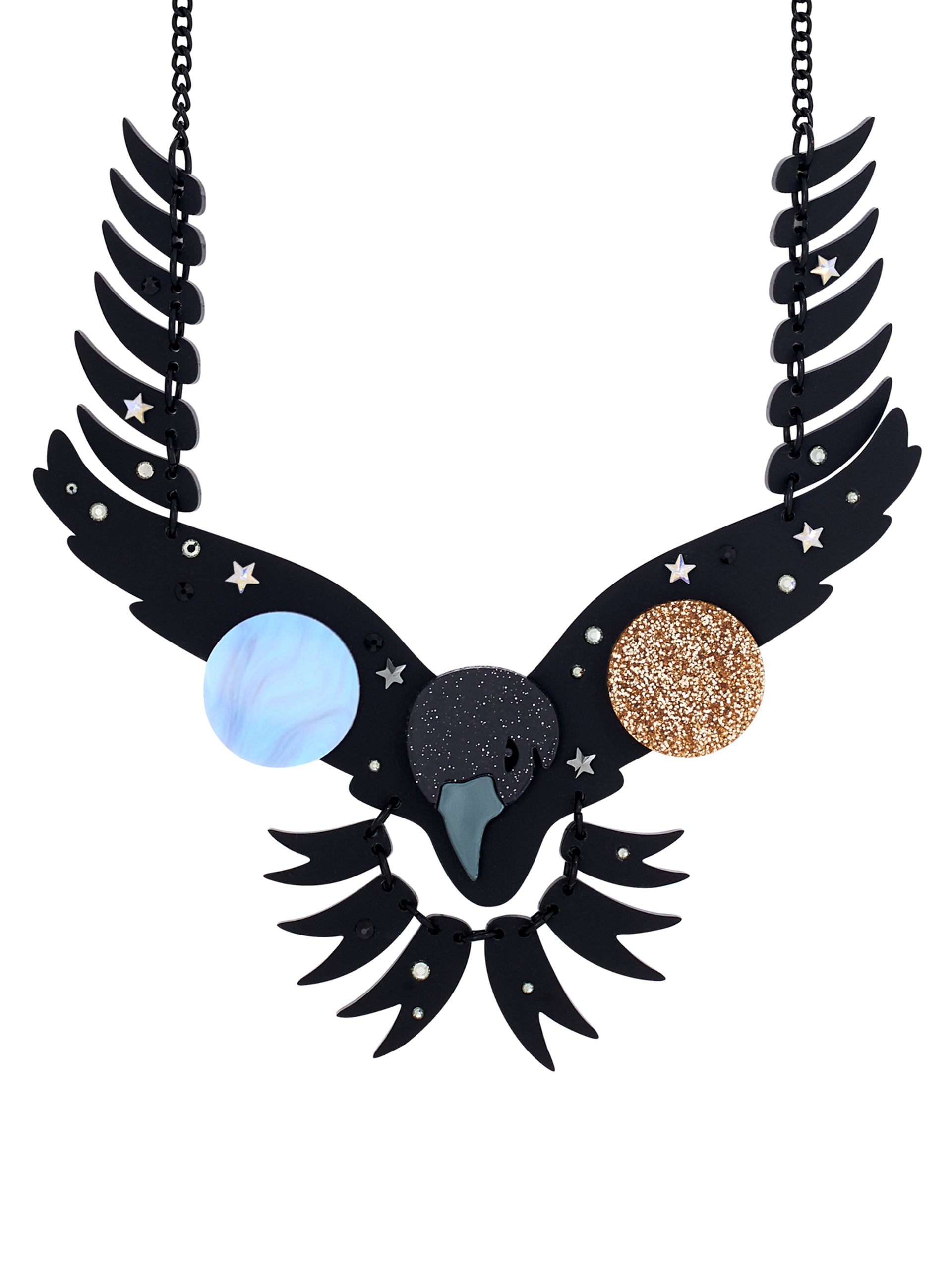 raven necklace - night