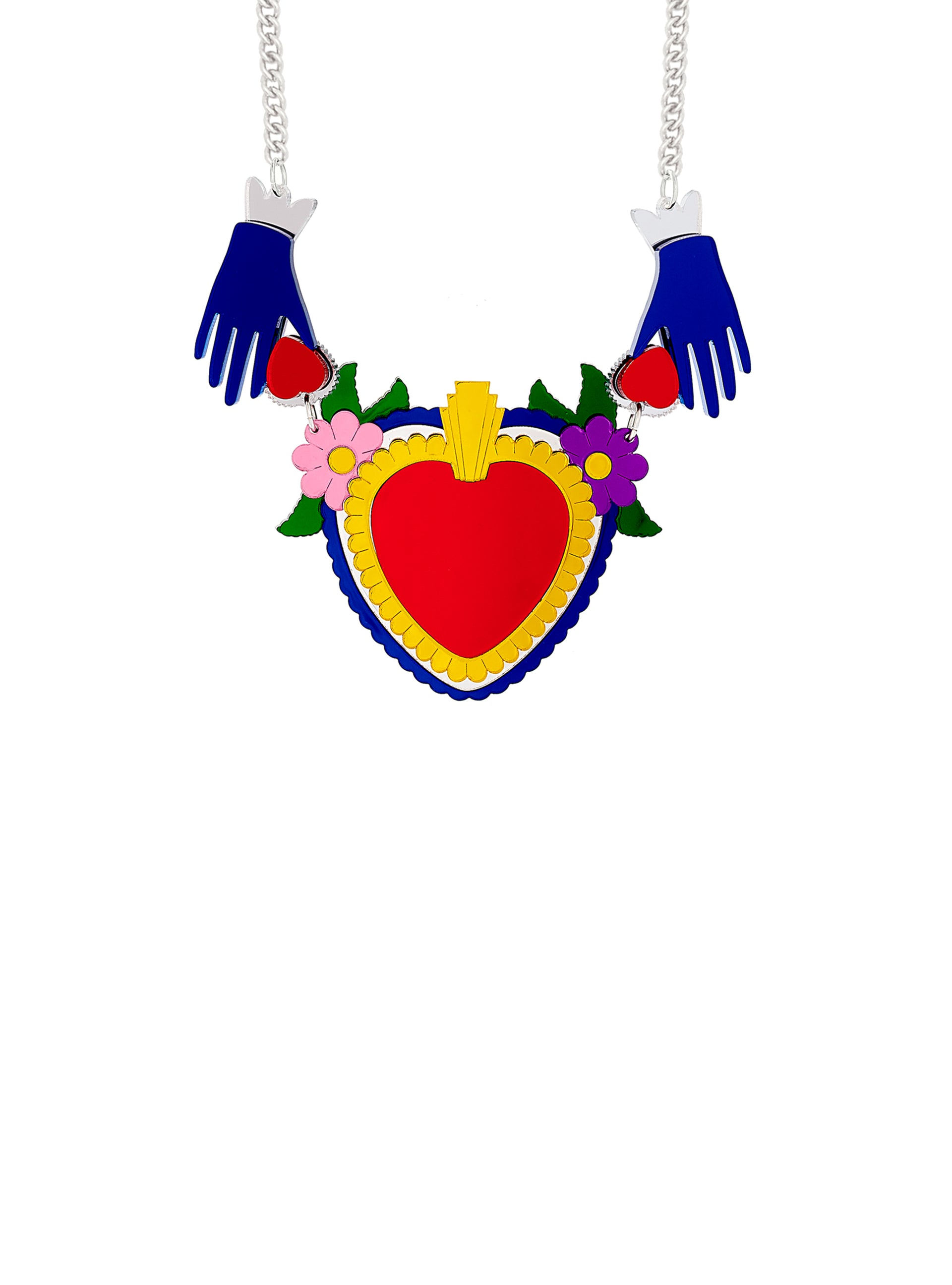 Sacred Heart Statement Necklace