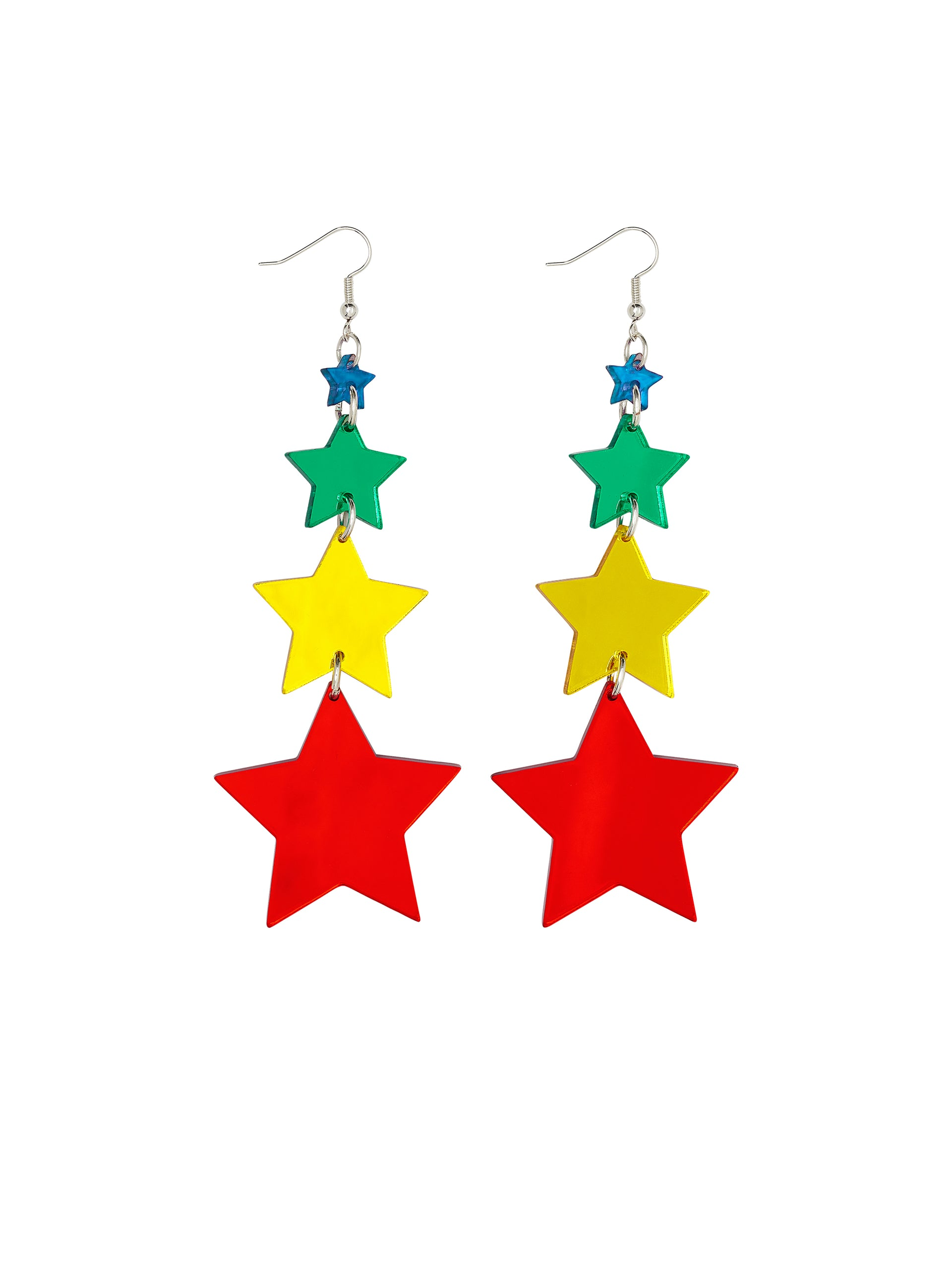 Shooting Star Rainbow Earrings