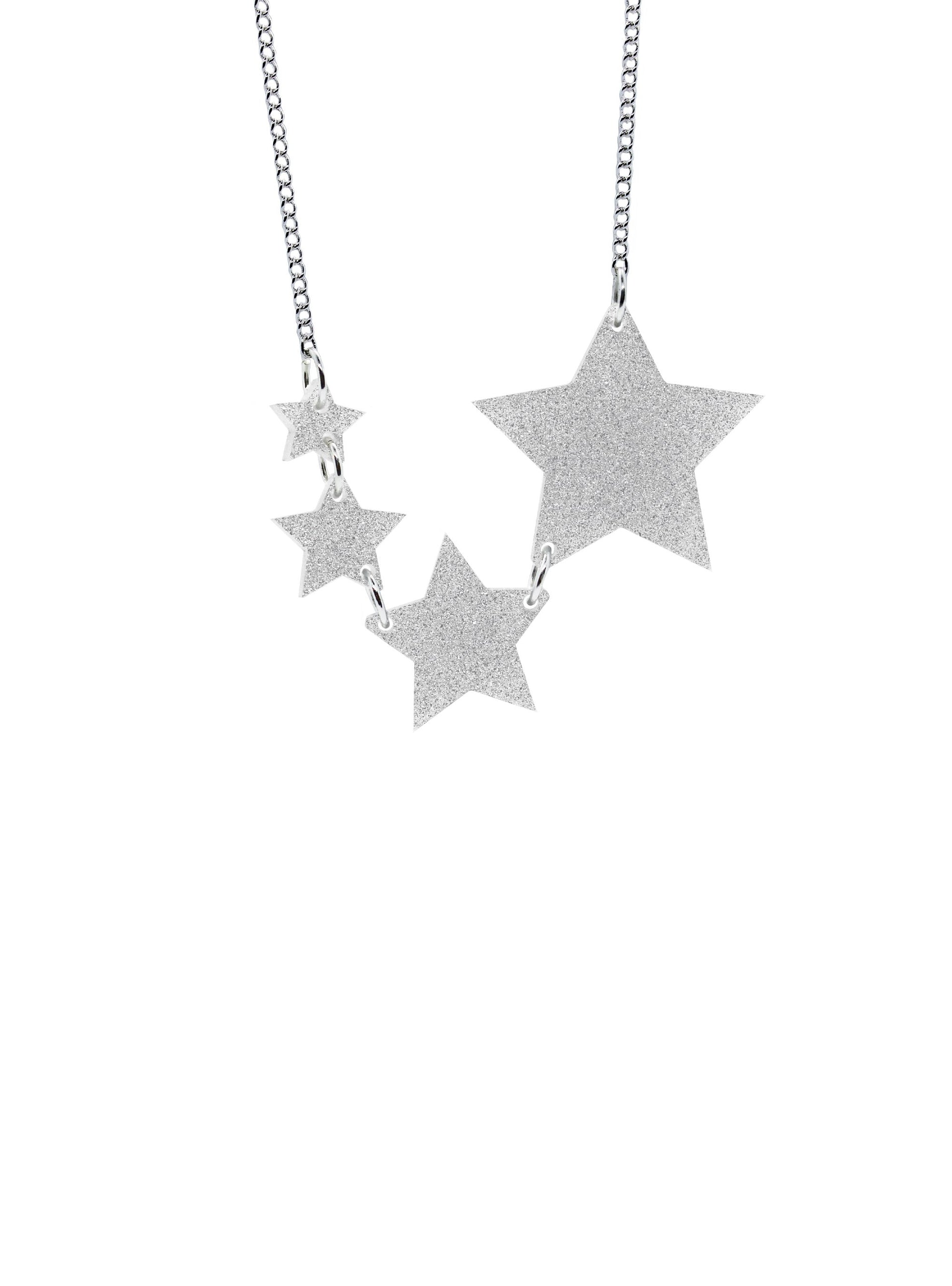 Shooting Star Necklace - Silver Dust