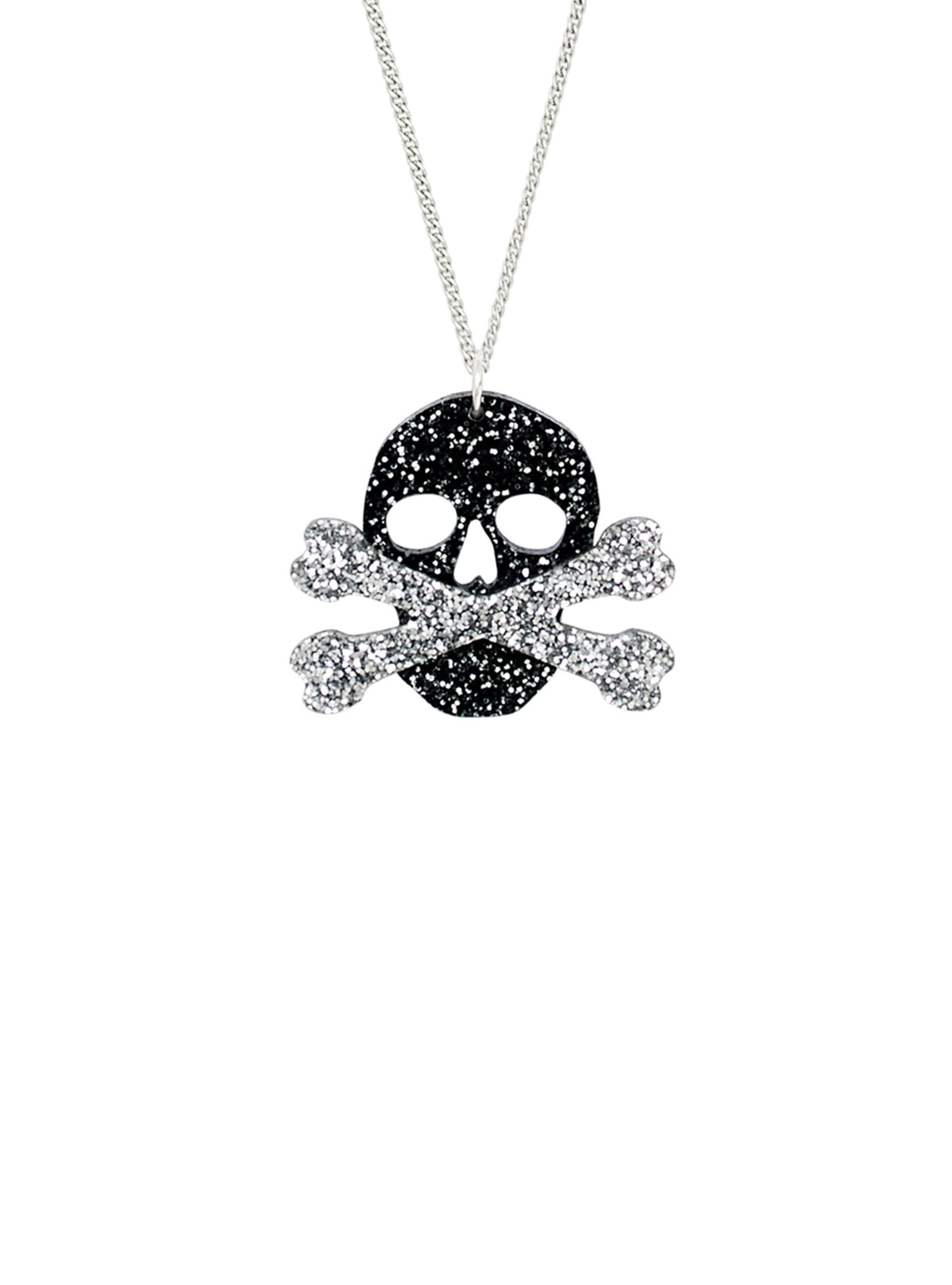 Skull and Crossbones Charm Necklace
