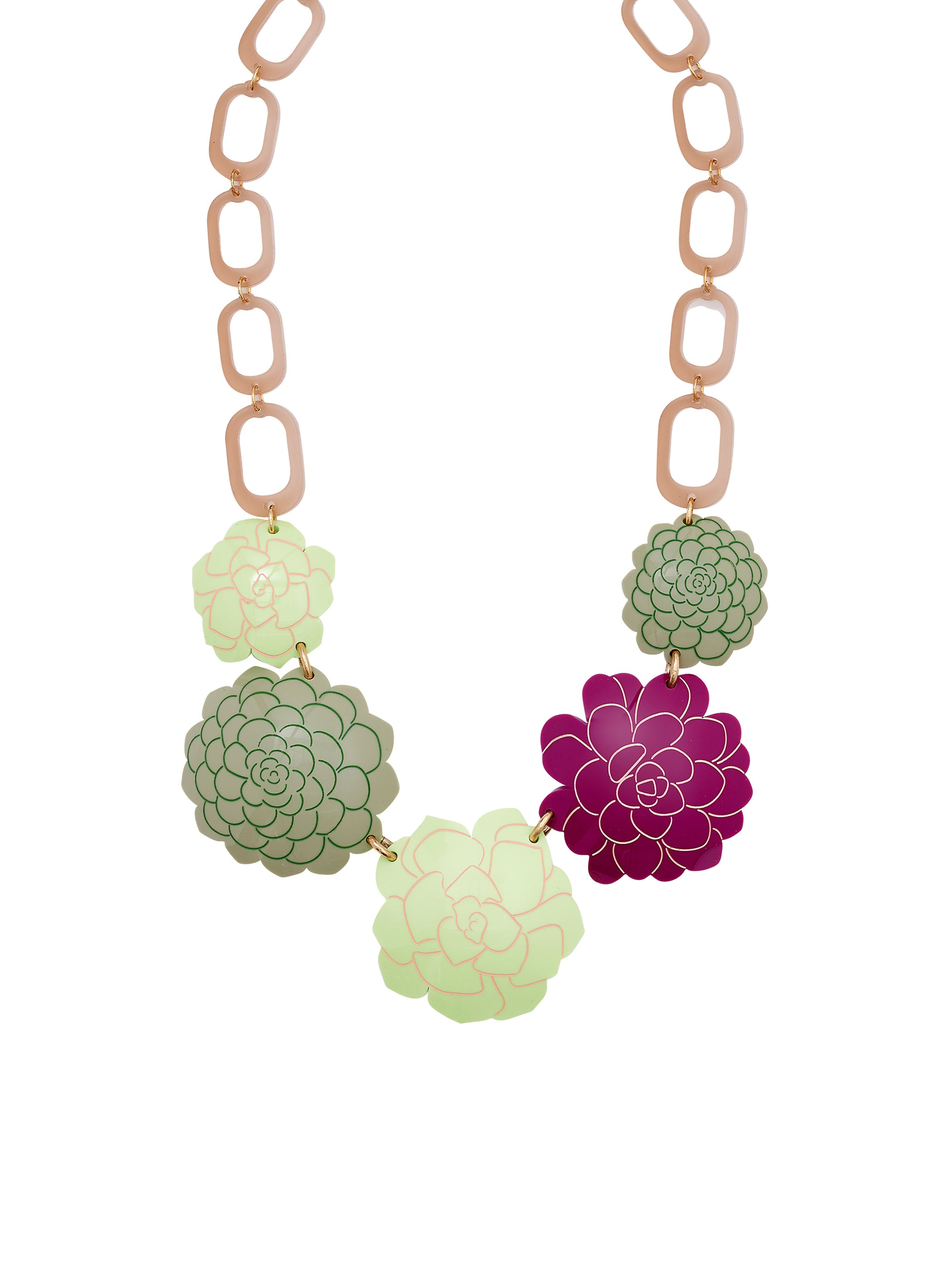 Succulent Statement Necklace
