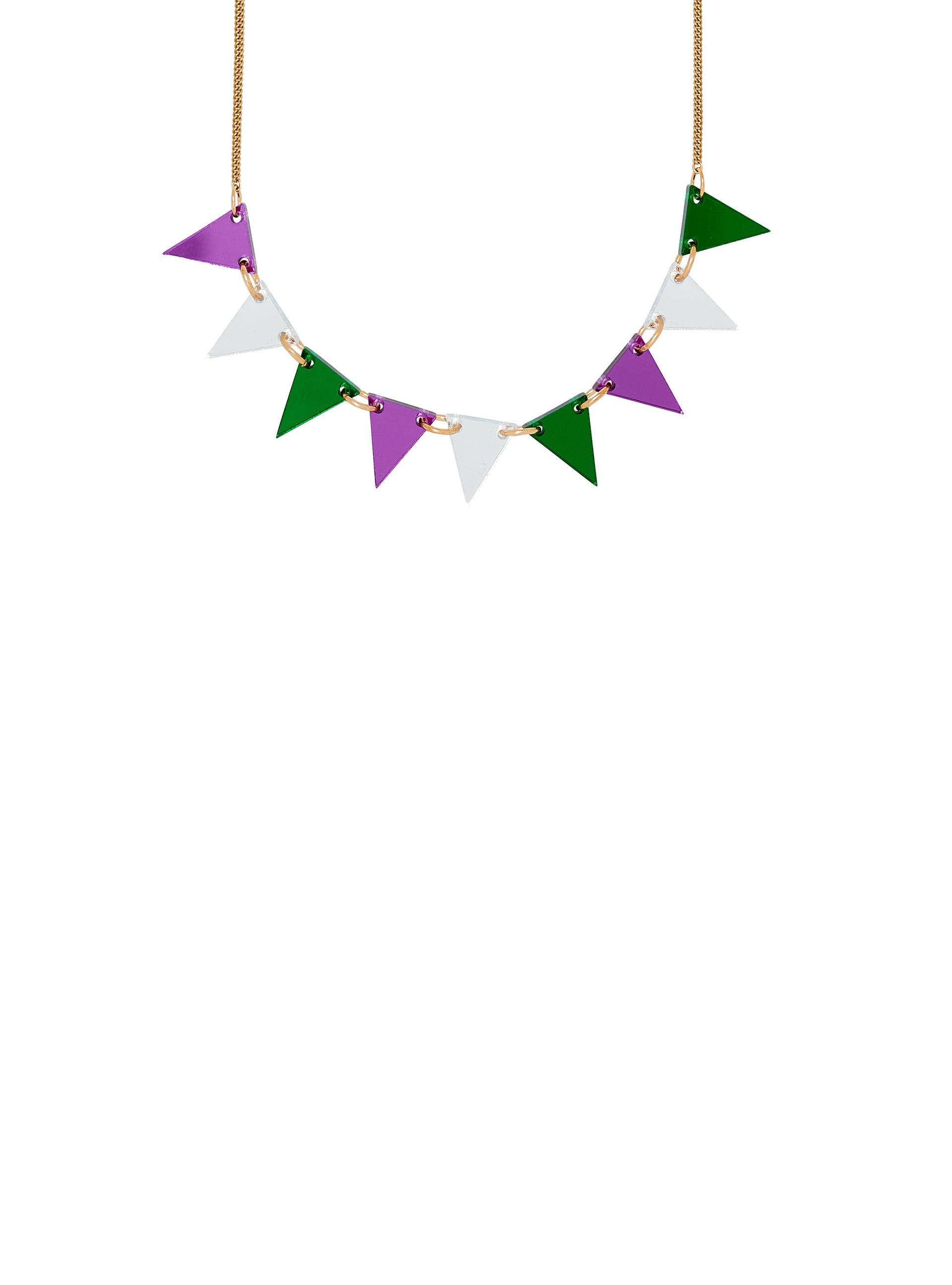 Suffragette Bunting Necklace
