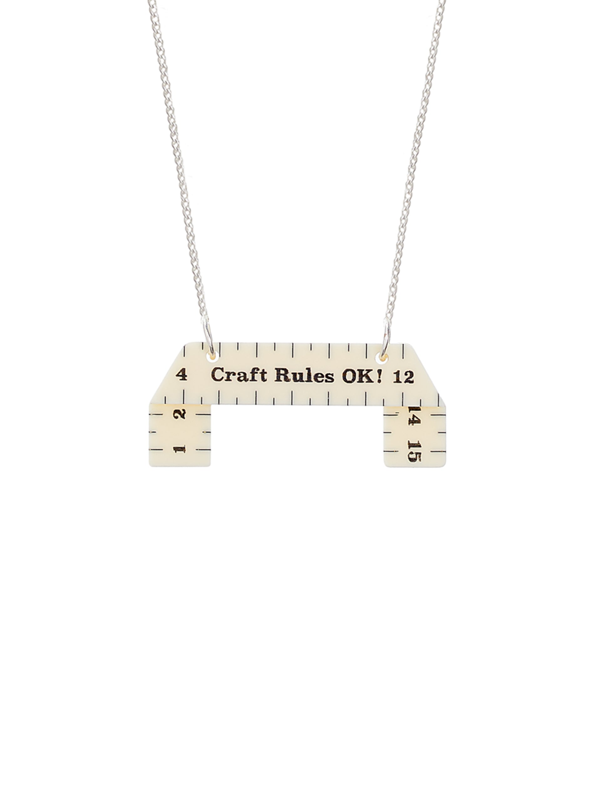 Measuring Tape Necklace