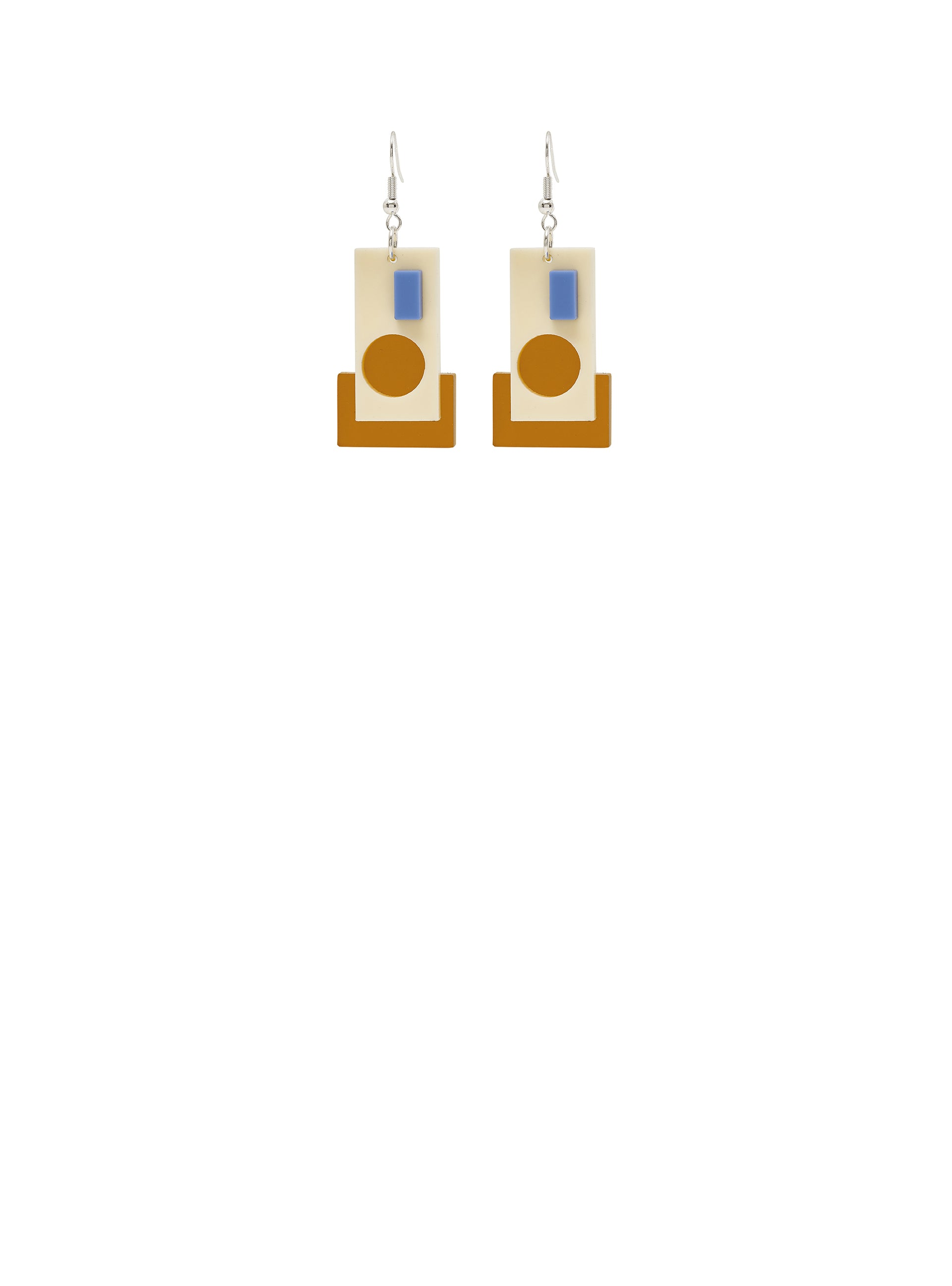 Tate Abstract Composition Earrings - Multi