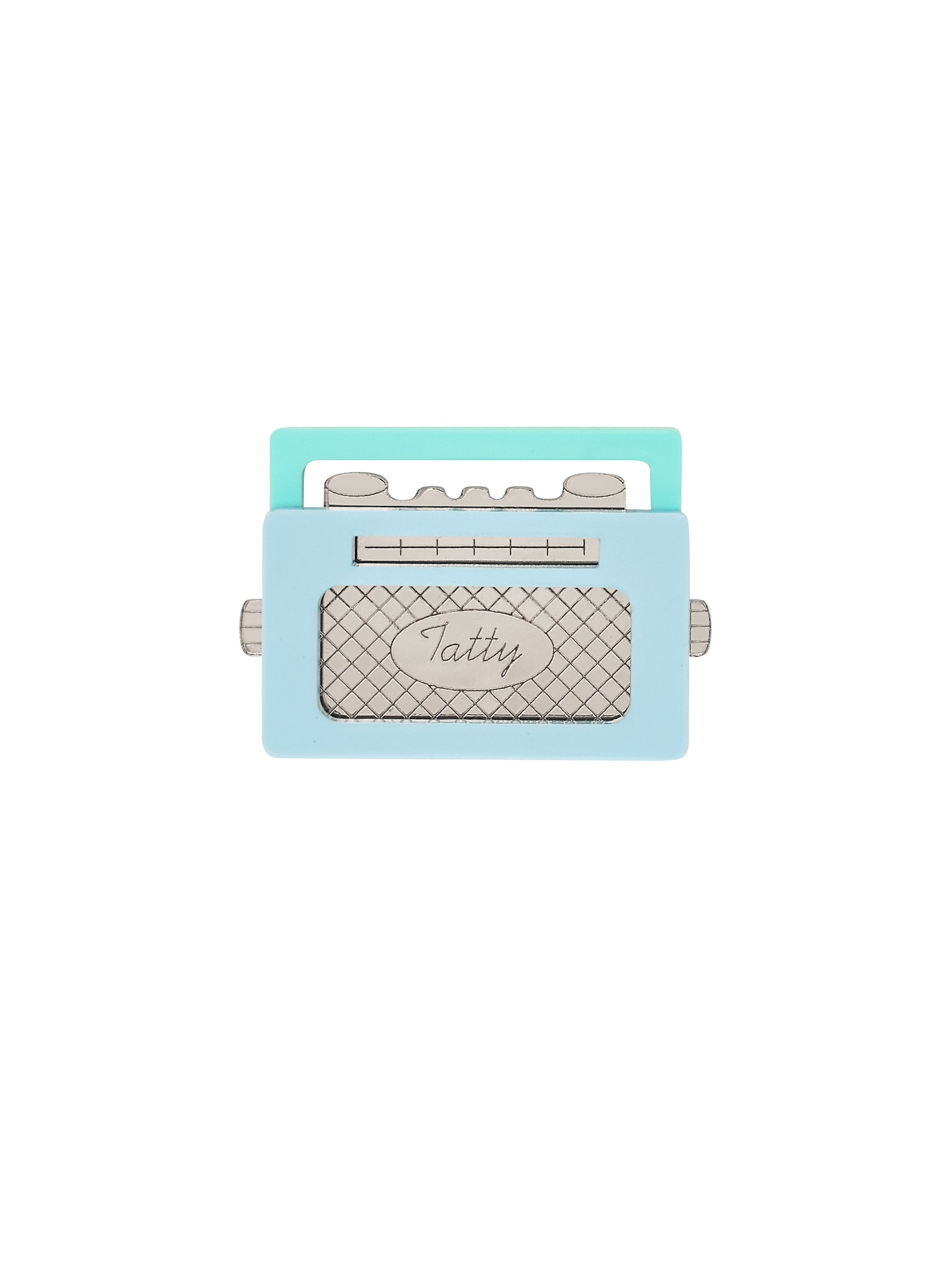 Wireless Radio Brooch - Aqua
