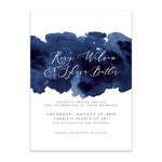 Oh joyful day artful wedding invitation modern wedding invitation Pittsburgh wedding invitation Pittsburgh weddings Pittsburgh wedding vendors watercolor wedding invitation wedding invitation navy wedding invitation custom wedding invitation hand lettered wedding invitation Pittsburgh paper goods wedding paper goods Pittsburgh artist Pittsburgh wedding art artistic wedding navy blue watercolor wash wedding invitation suite elegant smokey navy