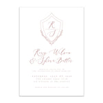 Oh joyful day artful wedding invitation modern wedding invitation Pittsburgh wedding invitation Pittsburgh weddings Pittsburgh wedding vendors watercolor wedding invitation wedding invitation navy wedding invitation custom wedding invitation hand lettered wedding invitation Pittsburgh paper goods wedding paper goods Pittsburgh artist Pittsburgh wedding art artistic wedding blush pink simple elegant shield pink wedding invitation suite