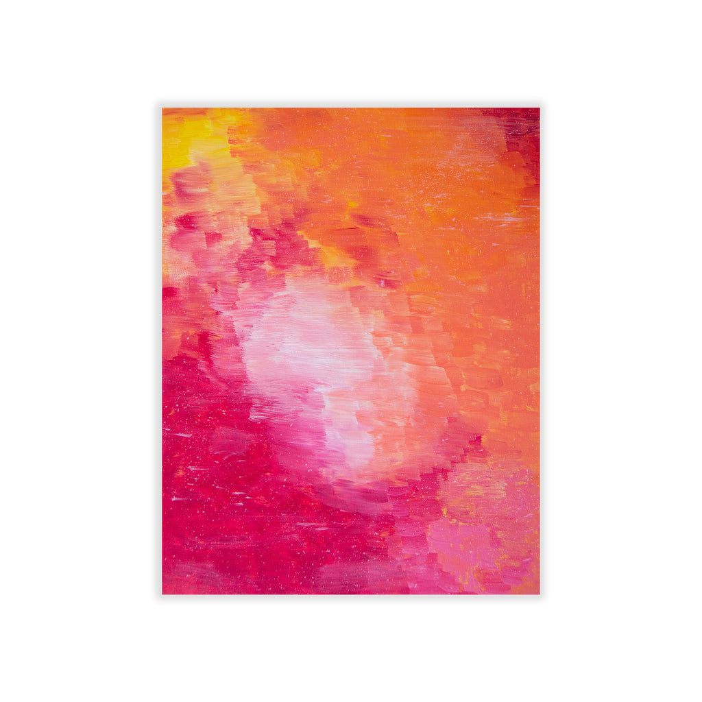 Little Pink Hat Abstract Print