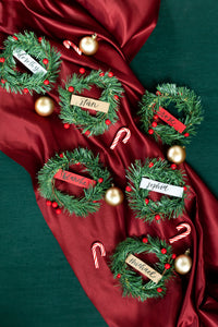 Mini Wreaths Place Cards