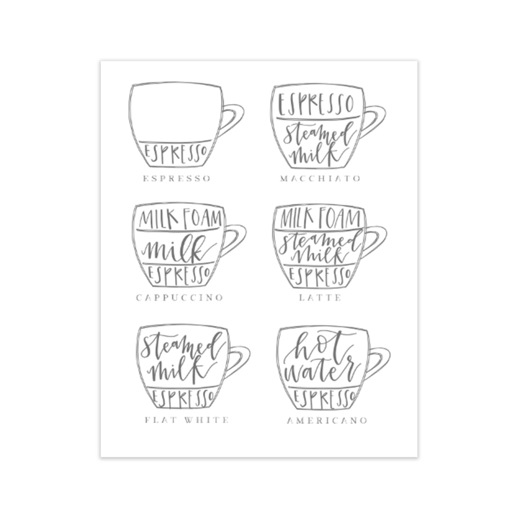 calligraphy handlettered oh joyful day art print home decor print coffee illustration coffee recipes kitchen decor