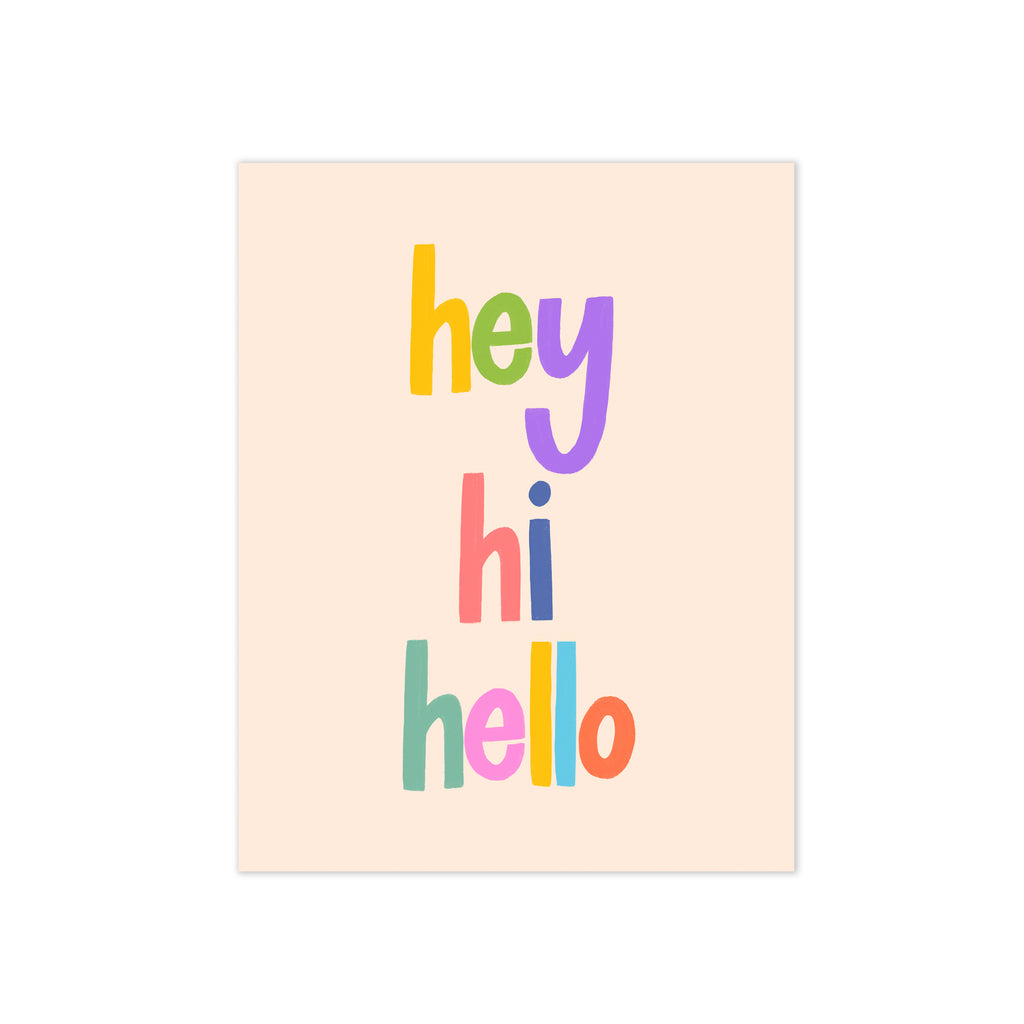 oh joyful day colorful hey hi hello greeting card