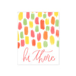 oh joyful day brushstrokes colorful hi there hand lettering and calligraphy greeting card