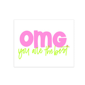 oh joyful day colorful calligraphy and hand lettering omg greeting card you are the best