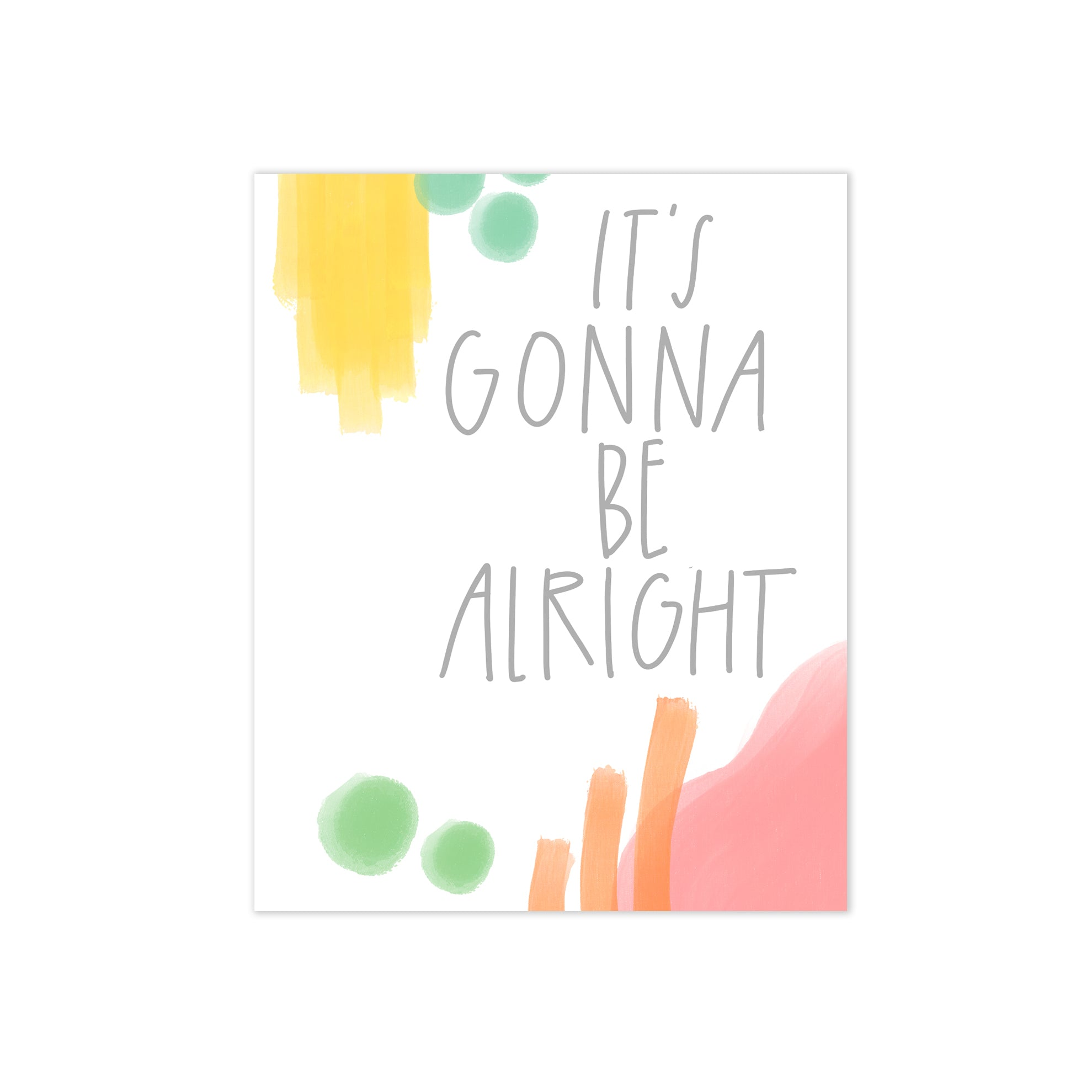 oh joyful day colorful artful hopeful greeting card it's gonna be alright card