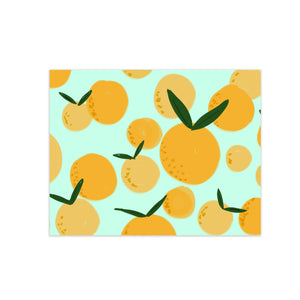oh joyful day colorful calligraphy and hand lettering orange citrus illustration pattern greeting card