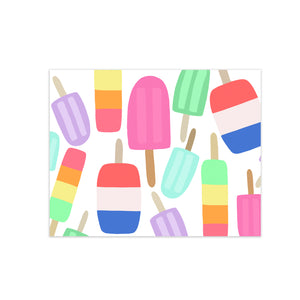 oh joyful day colorful calligraphy and hand lettering popsicle illustration pattern greeting card