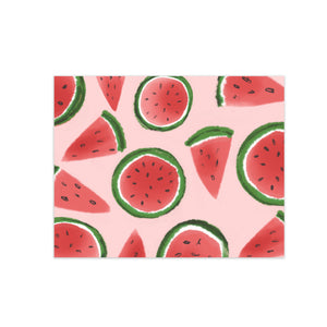 oh joyful day watermelon slices illustration pattern greeting card