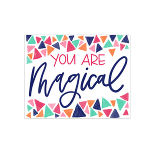 confetti you are magical hand lettering colorful calligraphy greeting card oh joyful day