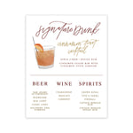Illustrated Signature Drink Bar Print