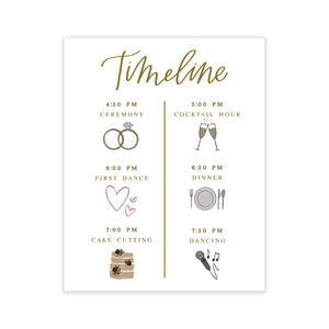Wedding Day Timeline Print