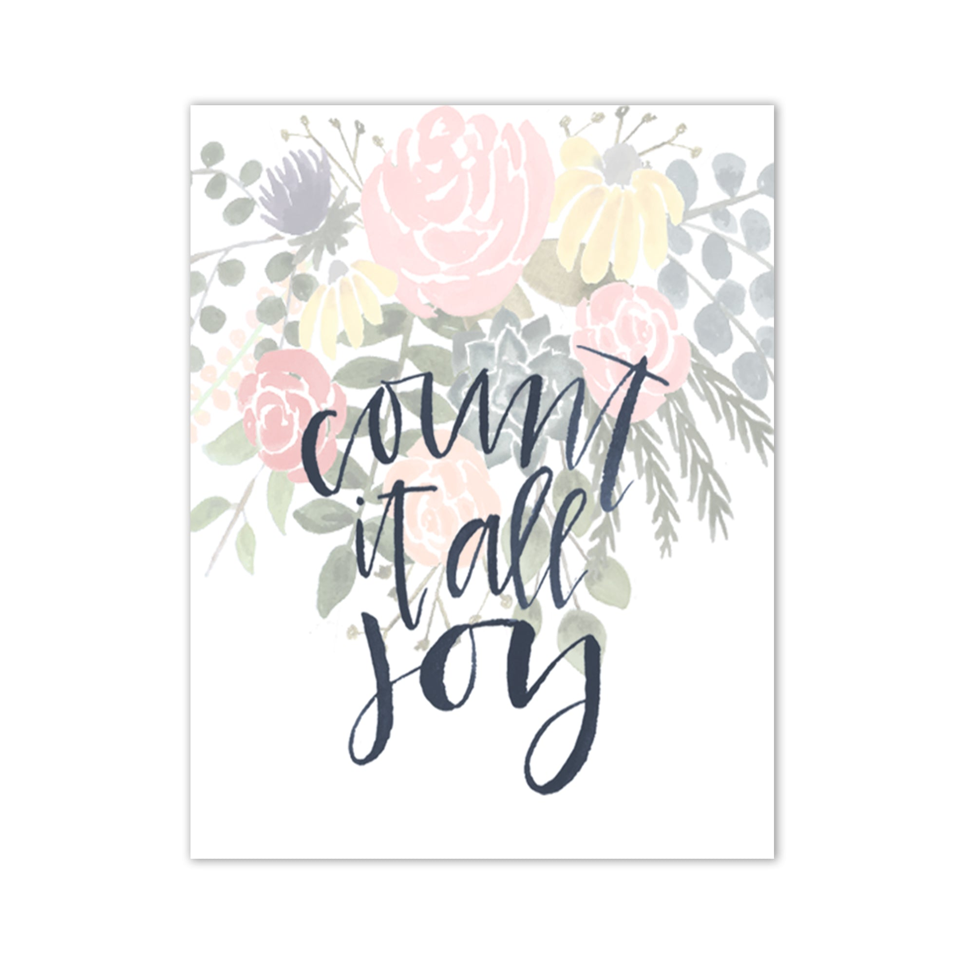 Count It All Joy Floral Print