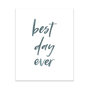 Oh Joyful Day Wedding Day Print Best Day Ever Print Wedding Day Art Wedding Decorations Watercolor Wedding decorations wedding print wedding day print