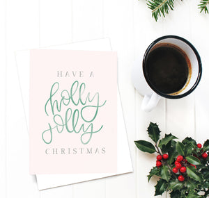 christmas, Christmas card, handmade Christmas card, whimsical Christmas card, hand lettered Christmas card, hand lettering, handlettered Christmas card, fun Christmas card, Christmas card set, handmade Christmas card sets, small business Christmas, Pittsburgh Christmas cards, Pittsburgh Christmas art, oh joyful day, merry and bright