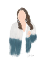 custom illustration custom portrait custom portrait illustration custom portrait drawing blogger illustration blogger logo fashion blogger drawing custom person drawing oh joyful day person drawing figure drawing Pittsburgh blogger Pittsburgh blogger art