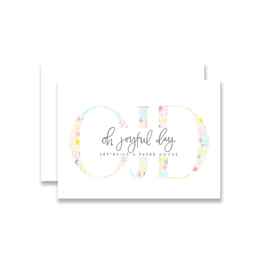 gift card oh joyful day gift card Pittsburgh stationery gift card Pittsburgh wedding gift card custom portrait art custom art portrait custom watercolor portrait gift for her gift for mom gift for grandma