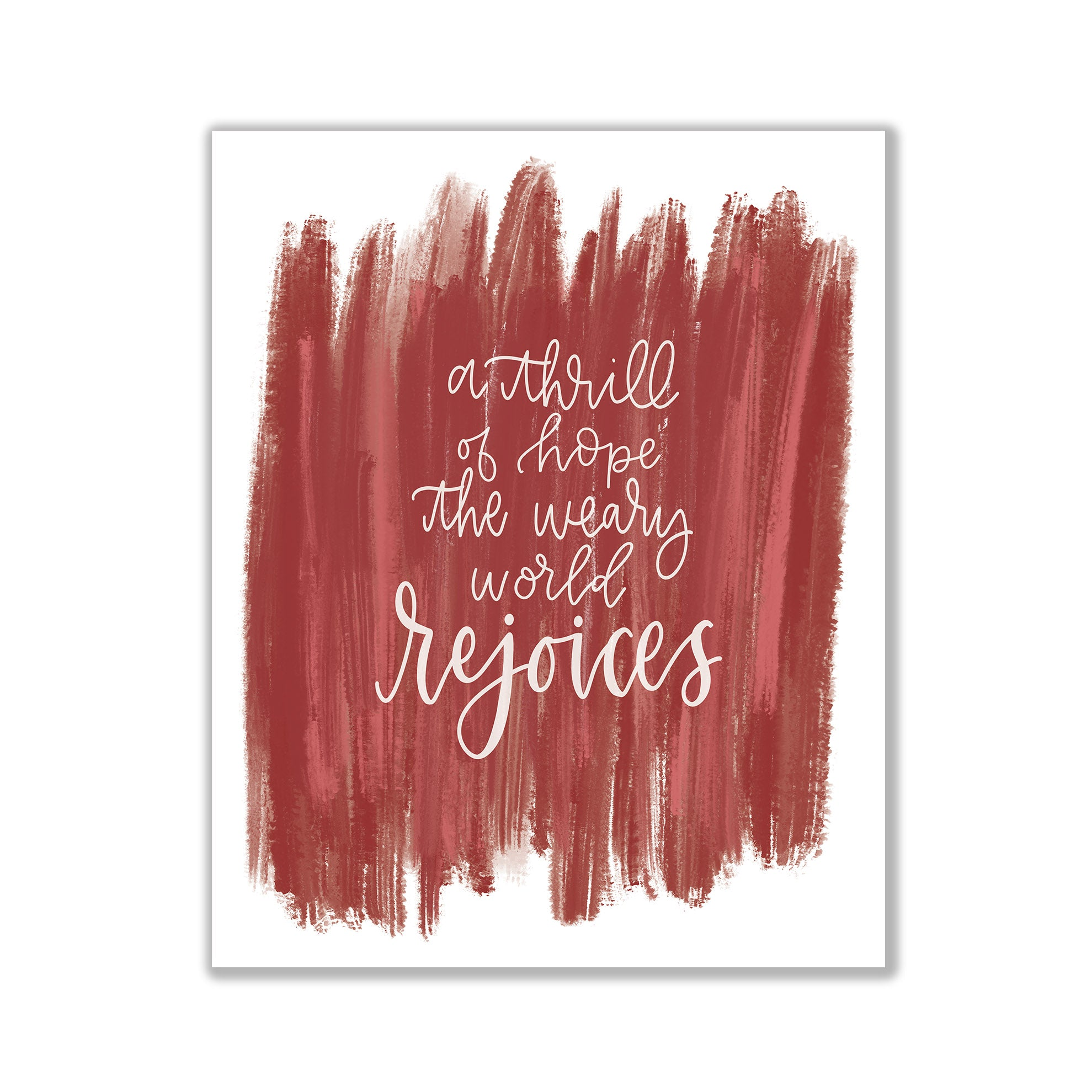 Christmas print hand lettered Christmas print Christmas art Christmas decorations Christmas decor the Christmas song Pittsburgh artist Pittsburgh art Pittsburgh calligraphy Pittsburgh calligrapher Pittsburgh Christmas art o holy night a thrill of hope the weary world rejoices print a thrill of hope decor