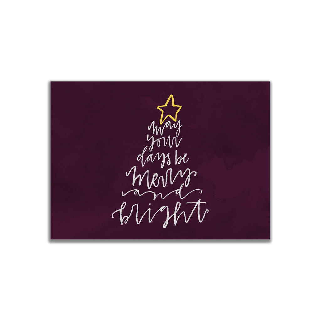 Merry + Bright Tree Postcard