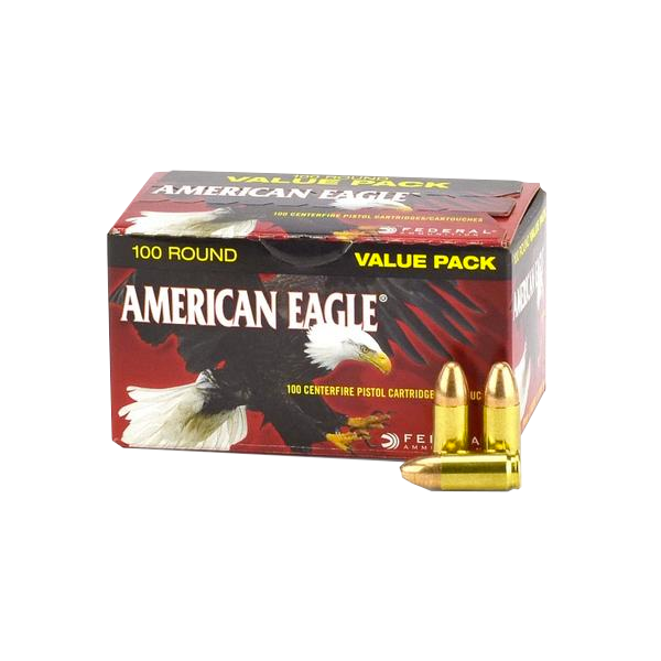 Federal American Eagle 9mm 115gr FMJ (100 Rounds)