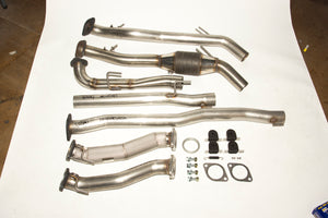 Lancer Evo X Group N Exhaust system. Stainless Steel - 63mm