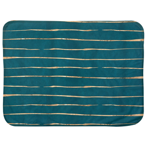 Blue and Gold Striped Baby Blanket-GranvilleDesigns