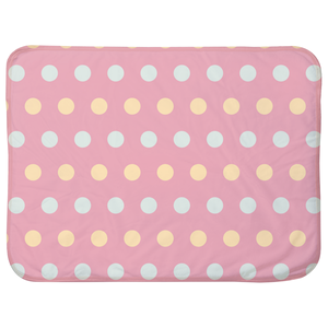Polka Dot Patterned Baby Sherpa Blanket-GranvilleDesigns