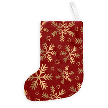 Gold Snowflake Christmas Stocking-GranvilleDesigns