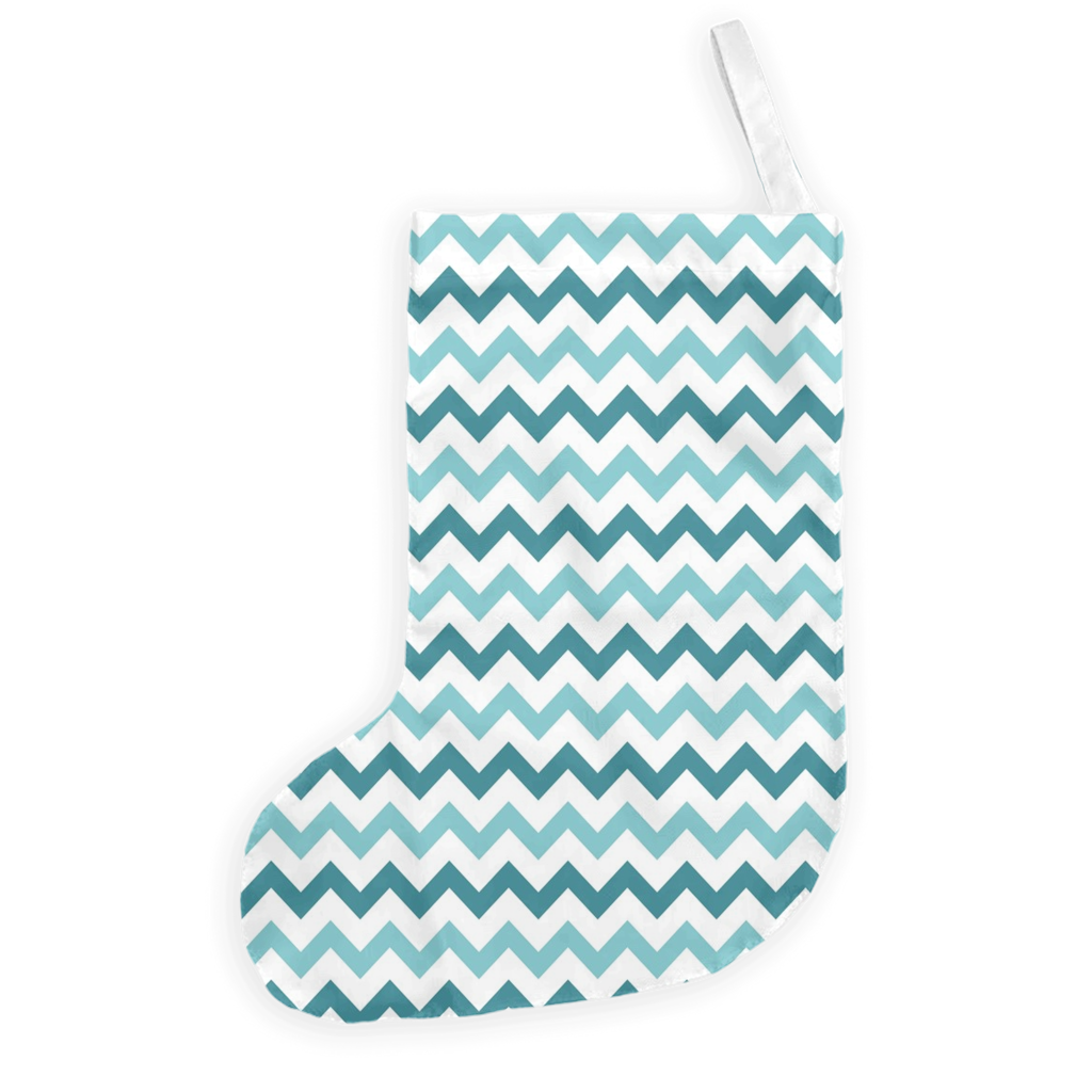 Teal and Blue Chevron Christmas Stockings-GranvilleDesigns