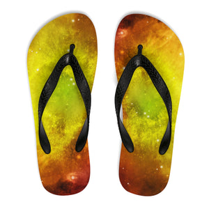 Galaxy Universe Themed Flip Flops-GranvilleDesigns