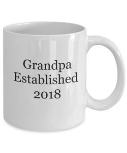 First time grandpa 2018 mug-GranvilleDesigns