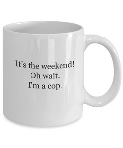 Funny police officer coffee mugs-GranvilleDesigns