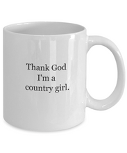 Thank god I'm a country girl mug-GranvilleDesigns