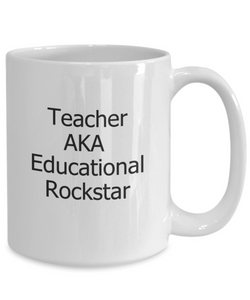 Teacher appreciation coffee mug: rockstar-GranvilleDesigns