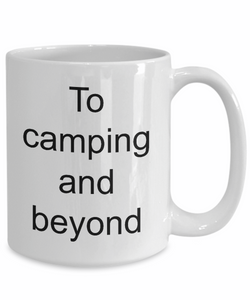 Camping coffee mug mugs camp funny ceramic tea white-GranvilleDesigns