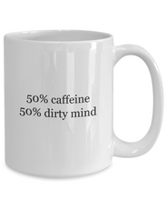 Caffeine Dirty Mind Coffee Mug Funny-GranvilleDesigns
