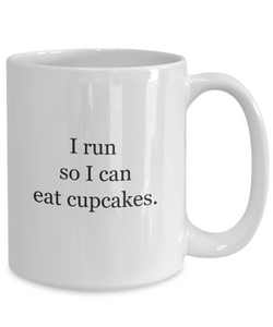 Mug runner: run for cupcakes-GranvilleDesigns
