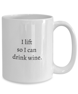 Weightlifting Gifts Women: For Wine-GranvilleDesigns