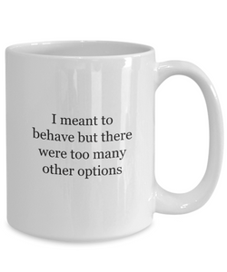 Behave Mug Naughty Christmas Funny-GranvilleDesigns